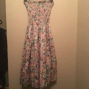Dresses & Skirts - Vintage floral sequin strapless tube maxi dress